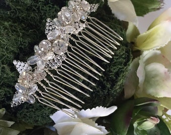 Bridal Hair Comb, Wedding Hair Accessory, Beaded Hair Comb, Hair Accessories
