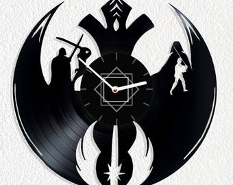 Vinyl clock Star Wars