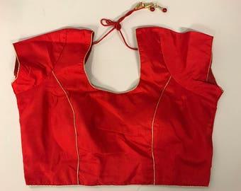 Ready made cotton silk sari blouse