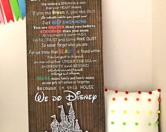 In this house We do Disney - with String Art Disney Palace****1 of option A is in stock with a light blue castle!!