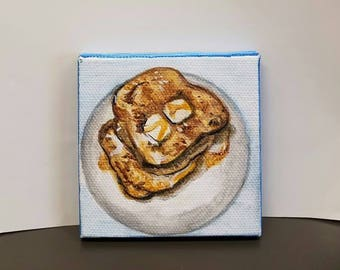 French toast- Tiny paintings- Breakfast paintings