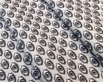 Fabric eye grey - size to 1 quantity 50 cm x 160 cm - 100% cotton