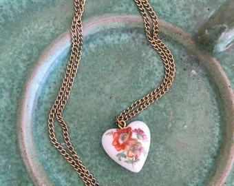 heart necklace | gold chain