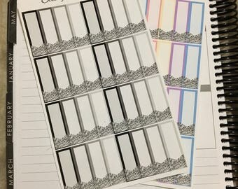 Silver Glitter Flag Quarter Boxes (Pastel or Neutral)