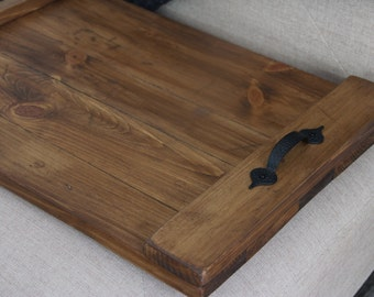 Rustic pallet serving tray