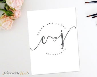 Wedding Logo, Wedding Monogram, Custom Wedding Logo, Wedding Initials, Anniversary Logo, Logo Designs, Premade Logo, Custom Wedding Monogram