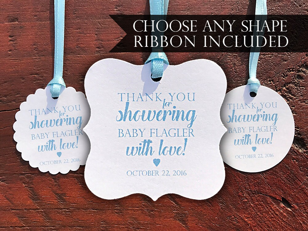 Personalized Baby Shower Favor Tag   Baby Shower Gift Tag   Thank You Baby  Shower Hang Tag   Baby Shower Favor Idea   Favor Tag With Ribbon