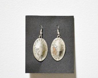 Handmade Stamped Metal Earrings