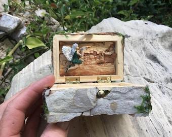 Tooth fairy box, Fairy Collectible box, Keepsake Fairy Box, Fantasy Box, Engagement Box, Small Gift Box