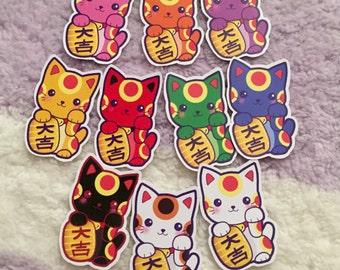 "Maneki Neko/ Lucky Cat 2.5"" Stickers"
