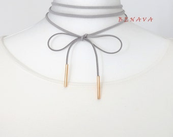 Choker collar necklace white gold Choker