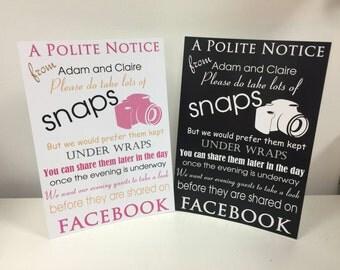 Facebook Photo Wedding Sign for Social Media