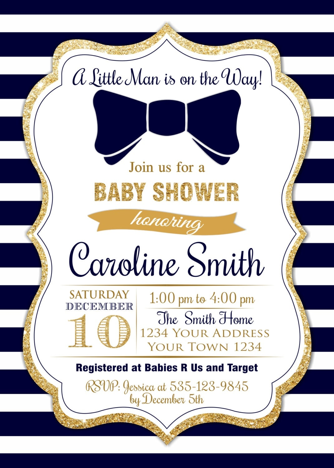 invitation invitations prince royal blue crown product shower for boy bbsh baby gold navy a