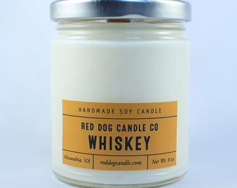 Whiskey Soy Candle | Soy Candle Handmade | Whiskey Scented Candle | Wood wick candle | Man Candle | Masculine Candle | Gift for Men