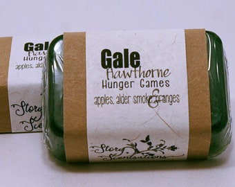 Gale Hawthorne Hunger Games Glycerin Soap Bar - Handmade Custom Book Character Scent, Fragrance, Hunter Green, Shimmery