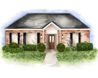 Custom Home Illustration