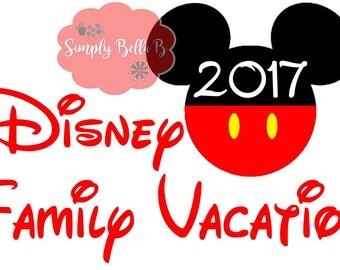 Disney Family Vaction INSTANT DOWNLOAD Printable Digital Iron-On Transfer Design - DIY - Disney Vacation