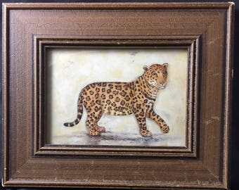 """Pier 1 """"Out of Africa"""" Gorgeous Leopard Framed Print by Alexandra Churchill"""