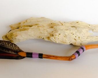 Eucalyptus and Pheasant Feather Wand 370mm - Wicca Magic Witchy