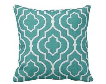 Outdoor Throw Pillow Cover -Outdoor Decorative Pillow - Teal Outdoor Pillow - Aqua Outdoor Pillow - Turquoise Outdoor Pillow Cover