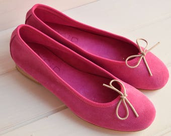 women's shoes, suede ballerina flats, flat shoes, flat shoes for women, Italian, Italian leather, leather craft product