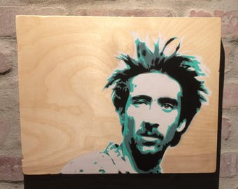 H.I. McDunnough 4 layered stencil painting