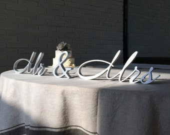 Silver Wooden letters Mrs and Mr wedding sign Mrs and Mr in silver or gold  Mrs and Mr glitter  wedding signs Mr and Mr or Mrs and Mrs or Dr