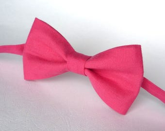 Red Crimson Linen Bow Tie, Red Bow tie for groomsmen, Red Linen Bow Tie, rustic crimson bow tie