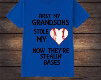 Grandma Baseball Heart Shirt