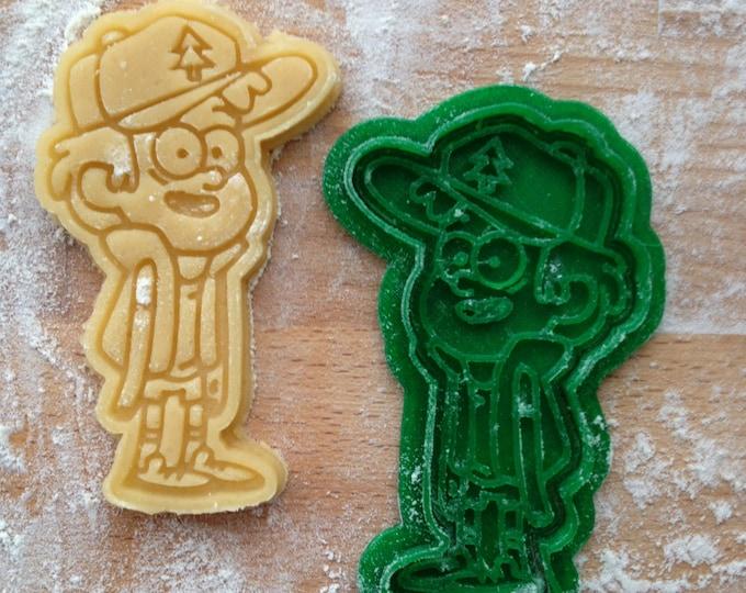 Dipper Pines cookie stamp. Gravity Falls cookie cutter. Gravity Falls cookies