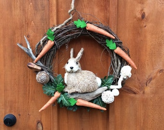 Wildlife Wreath, Nature, Rabbit Wreath, Bunny Wreath, Easter Wreath, Easter Bunny Wreath, Grapevine Wreath, Spring Wreath, Made In Canada
