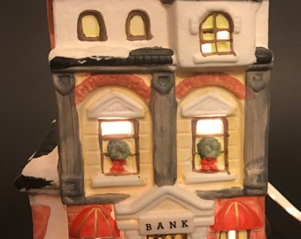 Lighted Christmas Village House