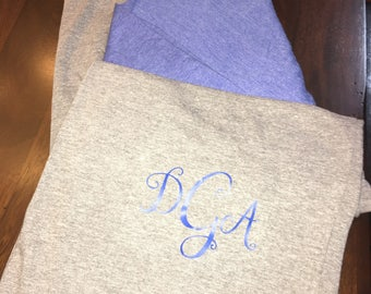 Monogrammed tshirt.  Jersey style