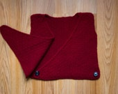 Organic Wool Baby Christmas Sweater Vest, Crossover Style, Made in USA