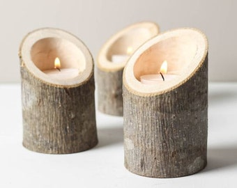 Trio of tealight holders