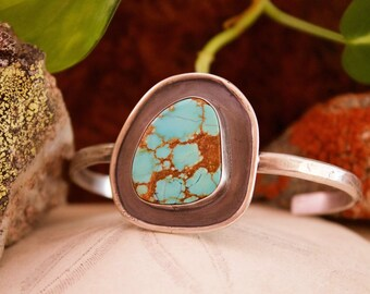 Sterling Silver Cuff | No. 8 Mine Turquoise
