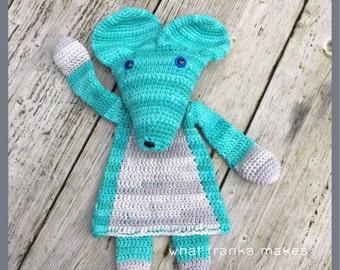 Crochet Ragdoll Mouse, gehaakte lappenpop, Muis, gehaakt, snuggle, A la Sascha
