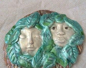 Handmade God and Goddess Of The Forest