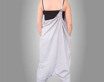 Lagenlook Jumpsuit, Smack Oversized Jumpsuit, Loose Maternity Jumpsuit, Harem Baggy Jumpsuit, Drop Crotch Jumpsuit