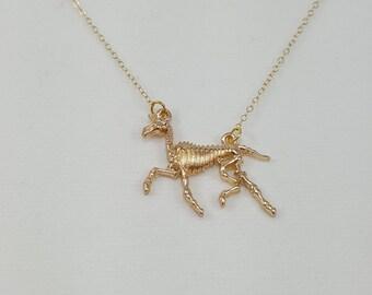 Unicorn Necklace, Unicorn Skeleton Necklace, Gothic Unicorn, Unicorpse, Unicorn Jewelry, Unicorn Skull, Goth Unicorn