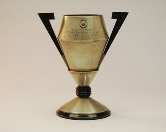 Art Deco Cycling Trophy, Italian, Vintage