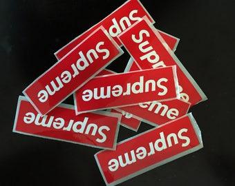 Mini Supreme Laptop Stickers