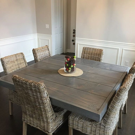 Square Dining Room Tables For 8: Farm House Table Pedestal Table Dine Table Square Dining
