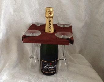 Wine and glasses holder