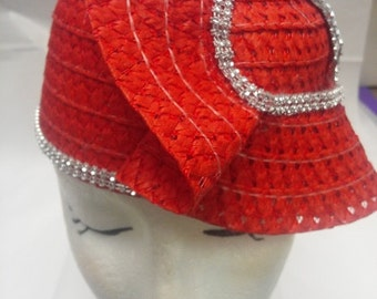 Red Swirl Hat