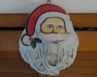 Santa Claus VTG Christmas Decor Door Harp vintage w/ free ship