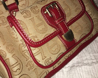 Vintage Etienne Aigner handbag! (Tan/wheat & Oxblood color)
