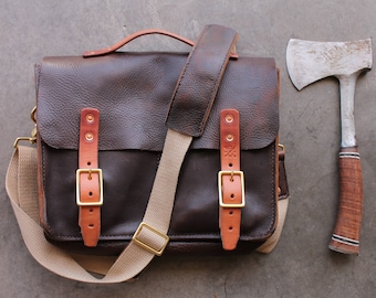 Standard Issue 13 -- Leather Messenger Bag