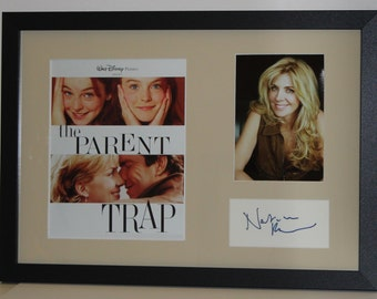 Natasha Richardson,4X6 card-COA (DECEASED) Hand Signed Autograph Index Card Framed and Matted To Final Size 14.5x20.5 The Parent Trap