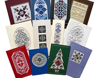 All Occasion Cards in Hardanger Embroidery